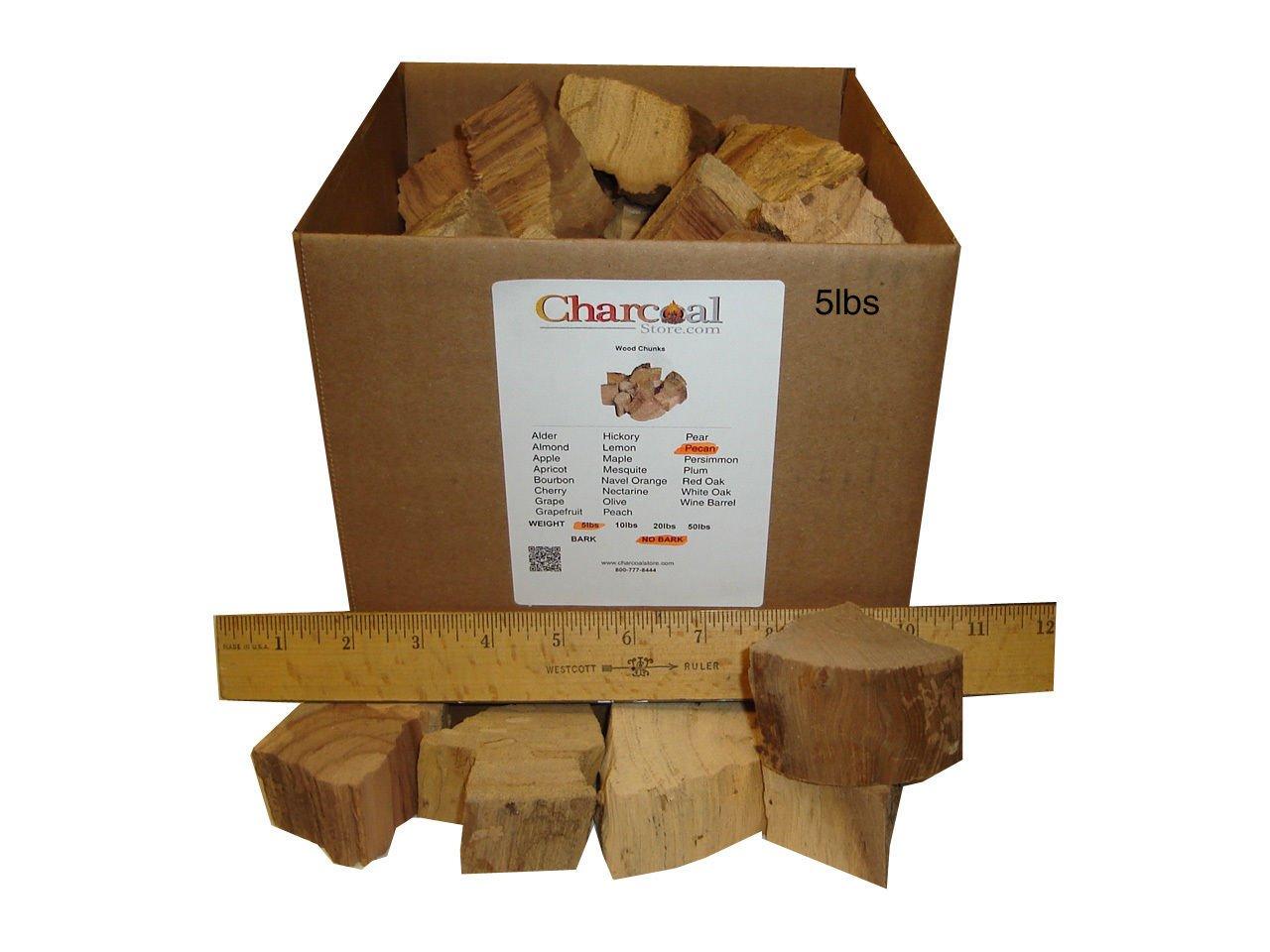 CharcoalStore Pecan Smoking Wood Chunks - No Bark (20 Pounds)