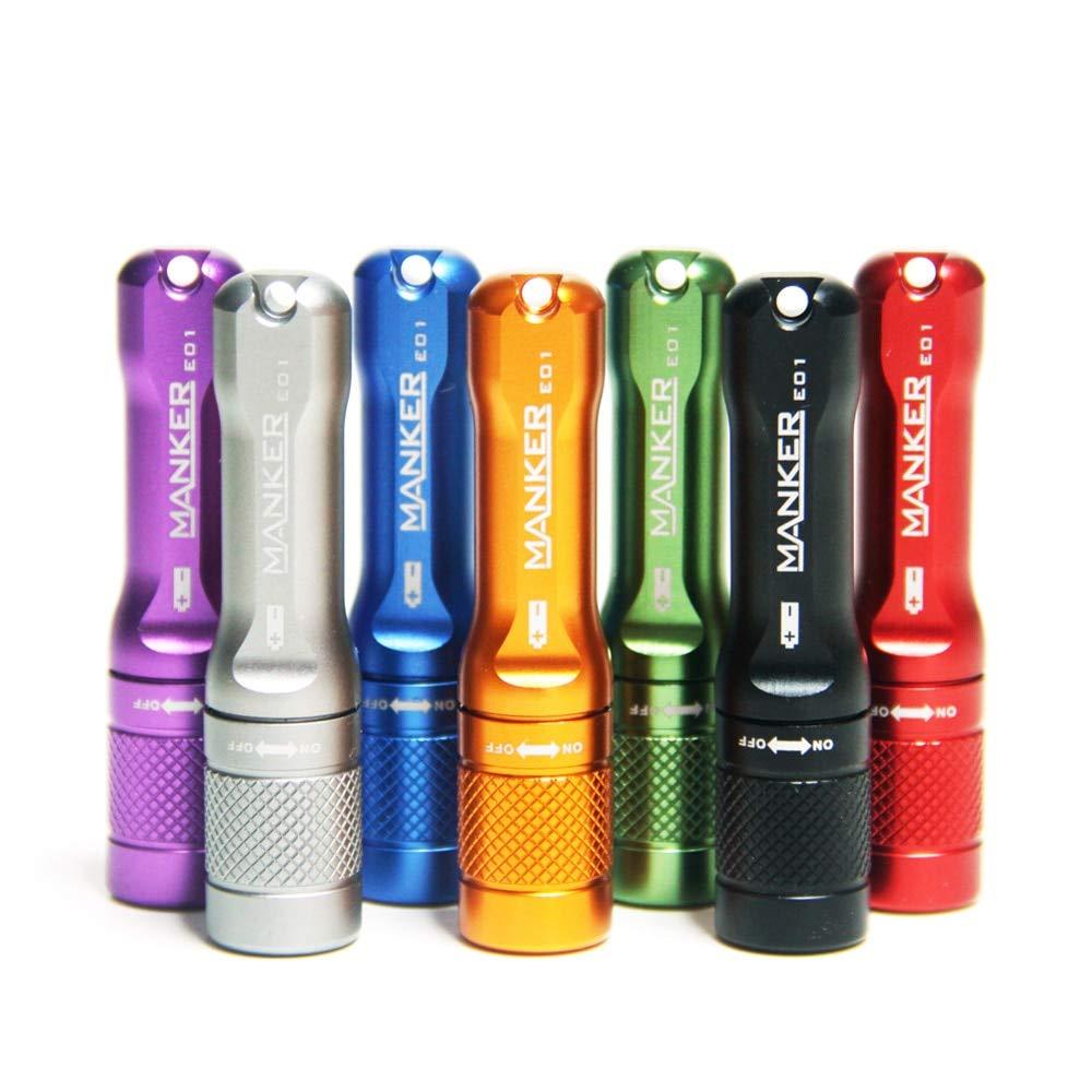 Manker E01 LED-Taschenlampe mit Schlüsselanhänger, 102 Lumen, 1 AAA-Batterie, Orange