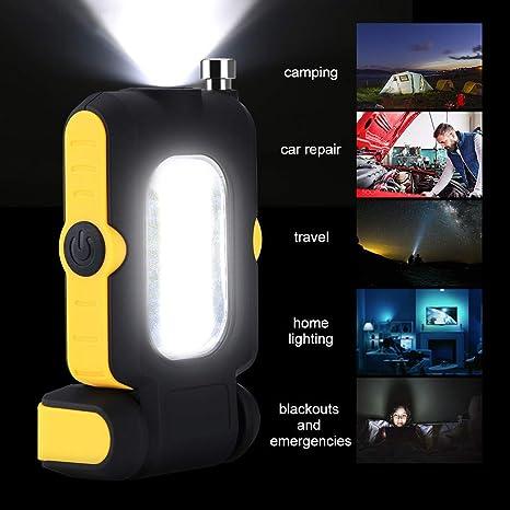 TAOtTAO Work Light Work Light multifunción portátil COB Lámpara Trabajo Luz Lámpara Linterna Magnetic Hot