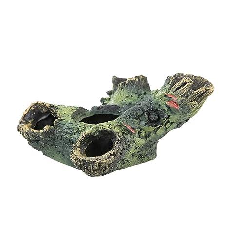 Scrox 1x Ornamento del Acuario Peces Camarones Tortugas Buque del Decoración Tanque de Peces para Escondite