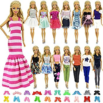 Nounita 6 Set Fashion Handmade Clothes Outfit Party Dress for 11.5 inch Doll