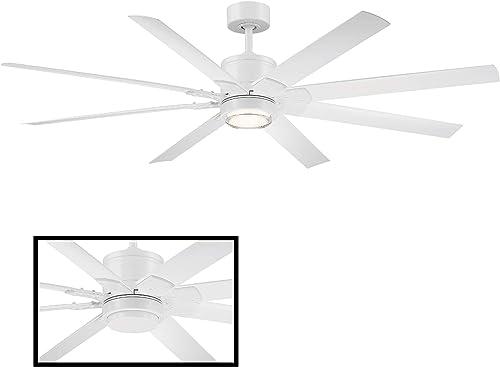 Renegade 66 in. 8 Blade Matte White Smart Ceiling Fan