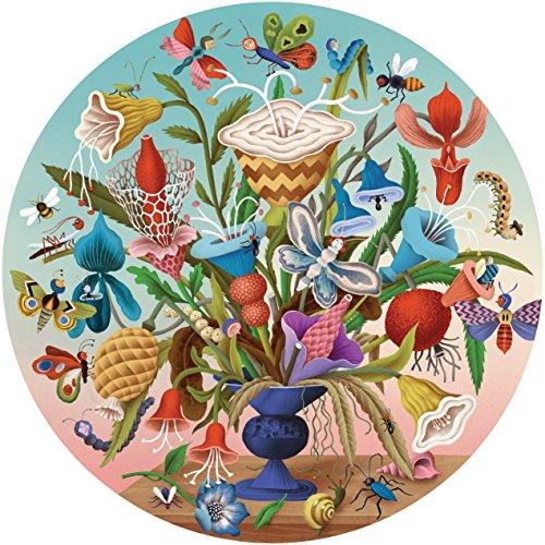 eeBoo Crazy Bug Bouquet Round Puzzle, 500 Pieces