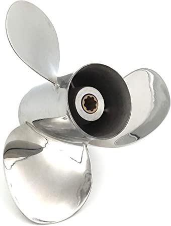 9 1//4 x 9 Pitch Stainless Steel Prop for Mercury 20 Hp 4-Strk Outboard