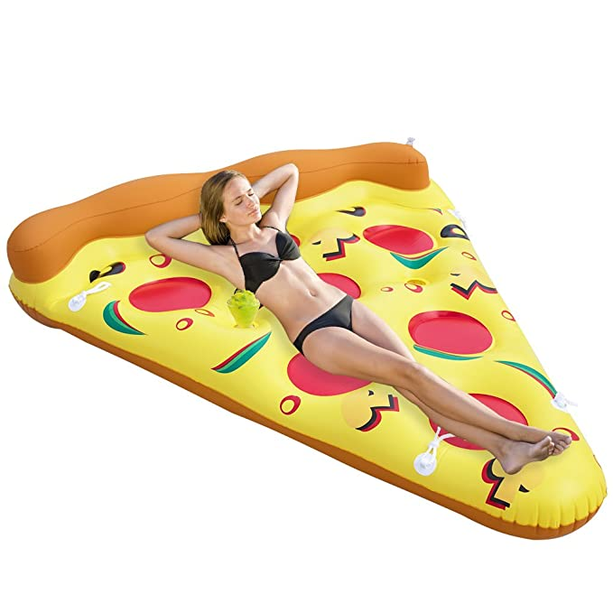 Faironly Pizza balsa Inflable para Piscina al Aire Libre ...