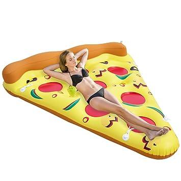 Faironly Pizza balsa Inflable para Piscina al Aire Libre, Flotador de Juguete, Flotador para Adultos y niños: Amazon.es: Hogar