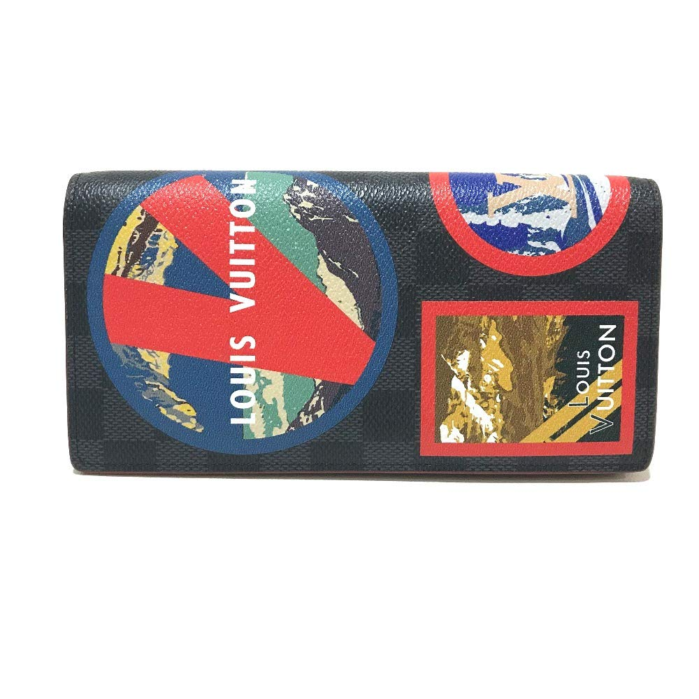 (ルイヴィトン)LOUIS VUITTON N60091 LVアルプス ポルトフォイユブラザ 2つ折り長財布 長財布(小銭入れあり) ダミエグラフィットキャンバス メンズ 未使用 中古 B07PPRQCTJ