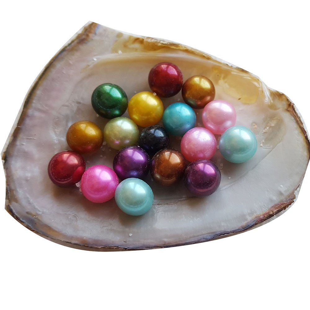 Love-wish Pearls Gorgeous AAAA Dyed Colors Freshwater Pearls Loose Rainbow Pearls Natural Beads From Zhuji 50 Pieces /lot