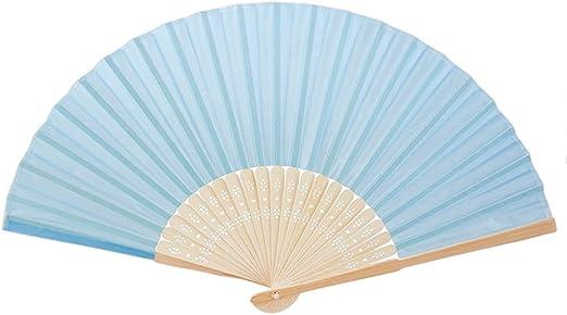 Leayao - Ventilador plano de plástico retro, decoración de abanico ...