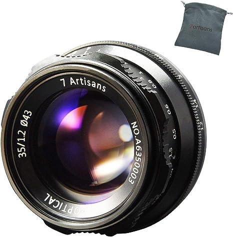 7artisans 35 mm F1.2 Manual Focus Prime Lens for Micro 4/3 Cameras Panasonic Olympus: Amazon.es: Electrónica
