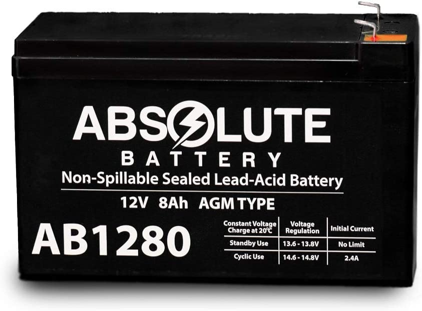 AB1280 12V 8AH AB1280 F1 SLA Battery Replacement for APC UPS RBC5 Battery