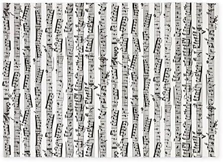 CafePress Music Notes 5'X7'Area Rug Decorative Area Rug