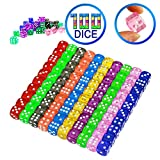 YOUSHARES 100 Pcs Multi-Color Dice Set – 10 Assorted Translucent Color with 10 Pcs each, 16mm D6 Standard Dice with Extra Carrying Bag, Perfect for Board & Dice Games and also Casino Games