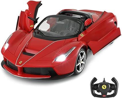 Amazon Com Remote Control Ferrari Toy Car Rastar 1 14 Ferrari Laferrari Aperta Rc Drift Car Manufacturer Toys Games