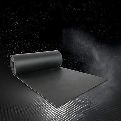 Yangxue 6 piezas amortiguador de choque alfombrilla de aislamiento de sonido antideslizante coj/ín impermeable negro negro No nulo Tama/ño libre