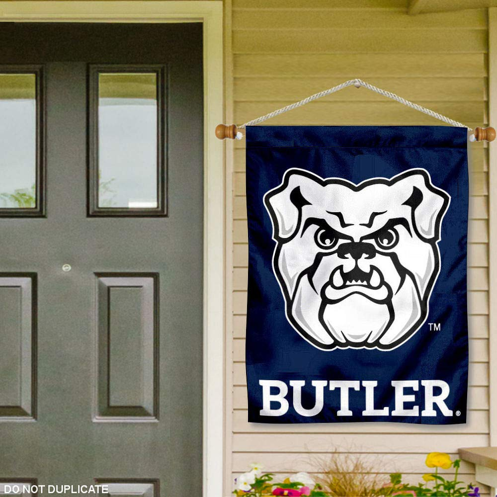 College Flags and Banners Co Butler Bulldogs Banner with Hanging Pole