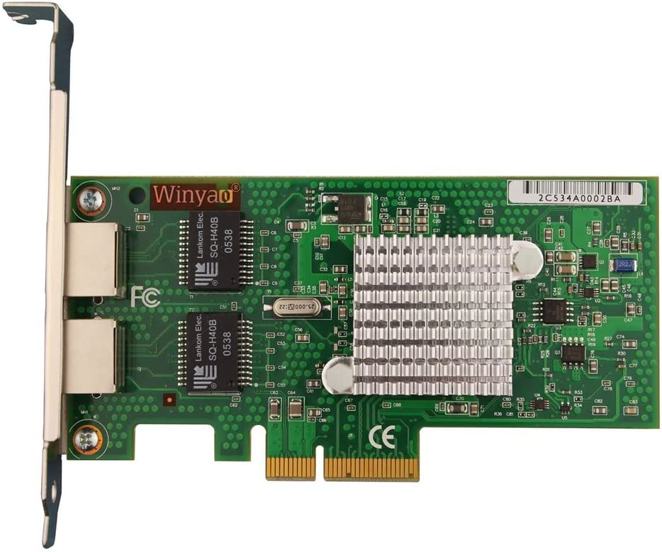 WY5709-T2 DUAL Port 1000Mbps Gigabit Ethernet PCI-E X4 NIC Card Chipset for BCM5709C