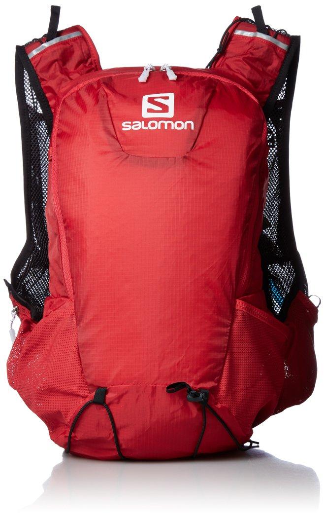 Salomon, Zaino leggero 15 litri (Taglia unica), Ideale per l'escursionismo, la corsa o la bici, 40 x 18 x 17 cm, SKIN PRO 15 SET, Rosso, L39273000 0889645256177