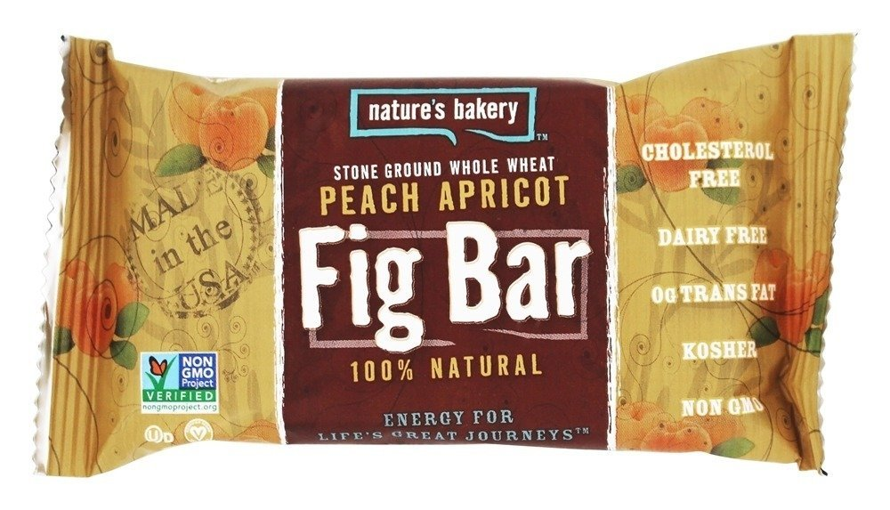 Nature's Bakery - 100% Natural Stone Ground Whole Wheat Fig Bar Peach Apricot - 2 oz.(pack of 3)