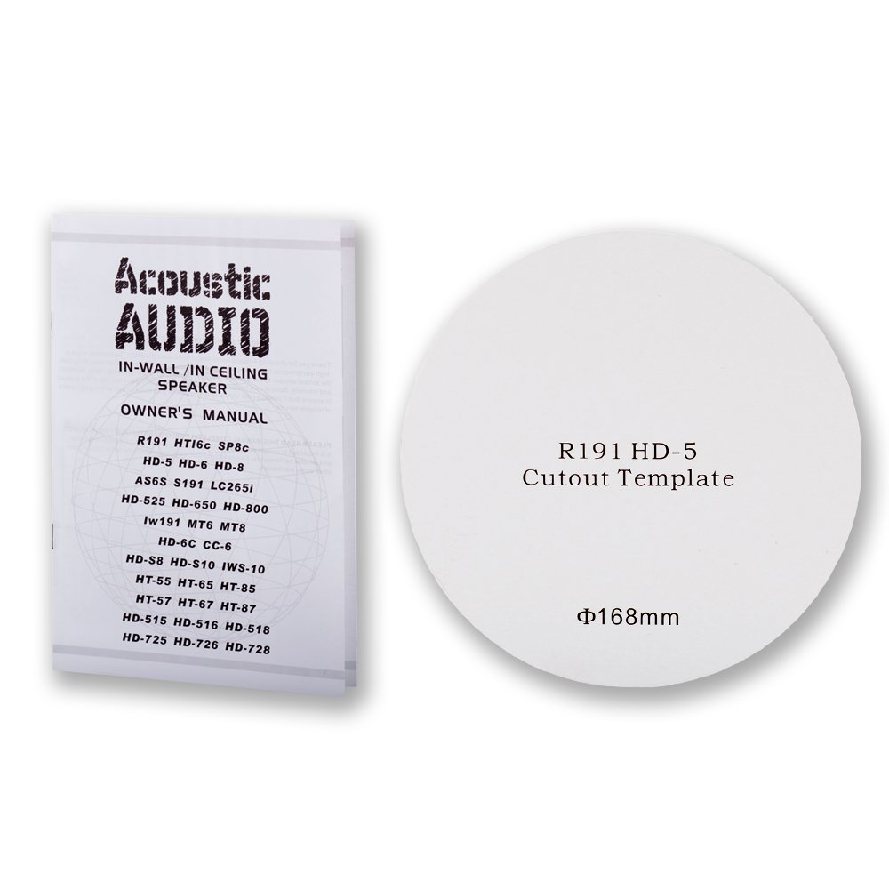 Acoustic Audio R191 In Ceiling Wall 5 Speaker Set 2 Wiring Diagram 6 Way Home Theater 1000 Watt New 5s