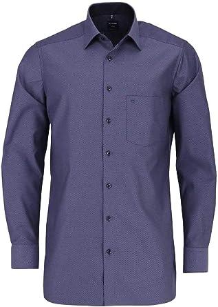 Olymp - Camisa de manga larga para hombre Negro 44: Amazon.es ...