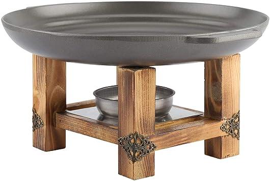 Ruiqas Piastra Antiaderente per Griglia Spiedini per Barbecue in Alluminio Ceramico Pentole per Buffet
