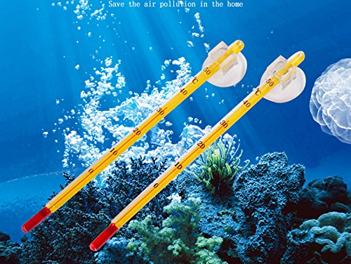 Pets Corner Market Fish Tank Stable Waterproof Hydrometer Glass Tube Thermometer Aquarium Fish Tank Temperature Tester With Suction Cup 1pcs by Pets Corner Market