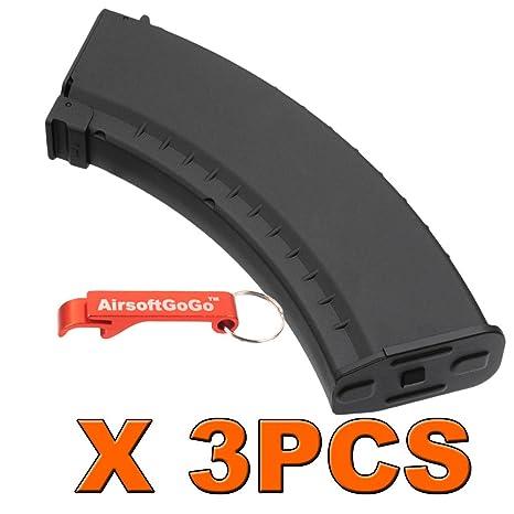 3pcs X AK 150rds Mid-Cap Cargador para Airsoft Marui Std ...