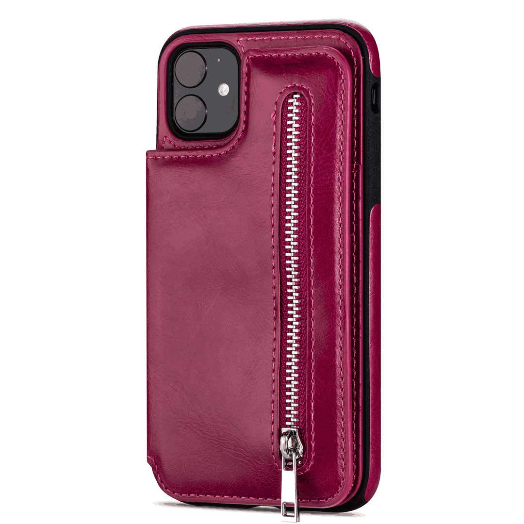 Flip Case Fit for Samsung Galaxy S9 plus, Kickstand Extra-Durable Card Holders rose red Leather Cover Wallet for Samsung Galaxy S9 plus