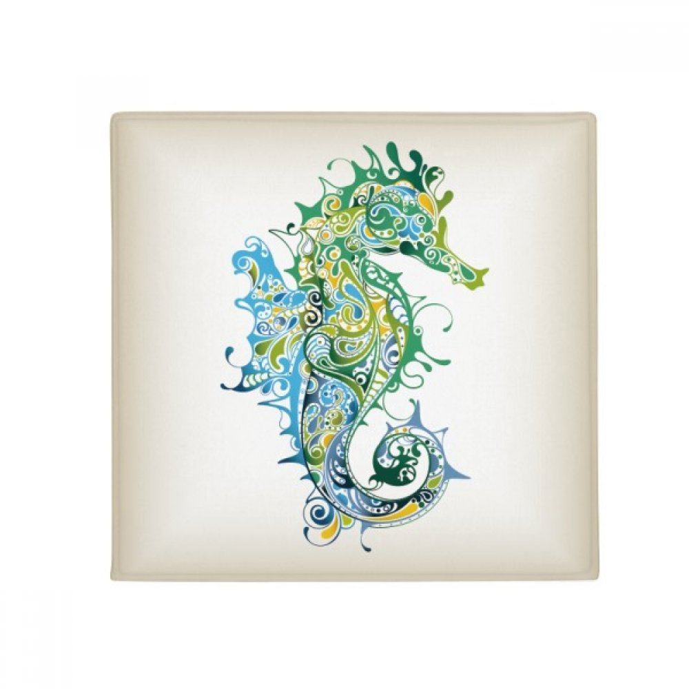 DIYthinker colorful Hippocampus Marine Life Pattern Anti-Slip Floor Pet Mat Square Home Kitchen Door 80Cm Gift