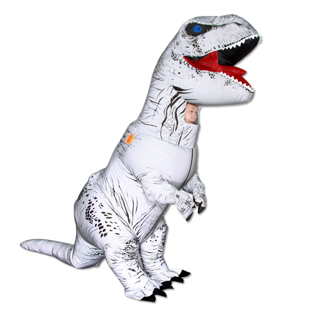 GO.Love Inflatable Night Fluorescence T-Rex Dinosaur Riding Men Costume