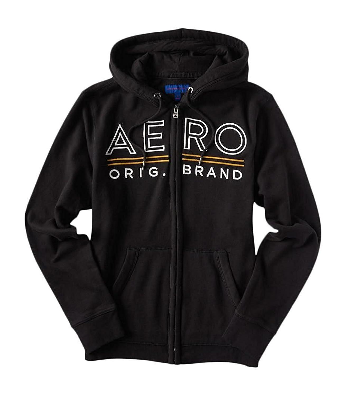 Aeropostale Men's Aero Underlined Logo Zip-Front Hoodie