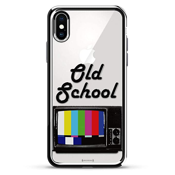 Old School Tv Luxendary Chrome Series Designer Case For Iphone Xs X In Silver