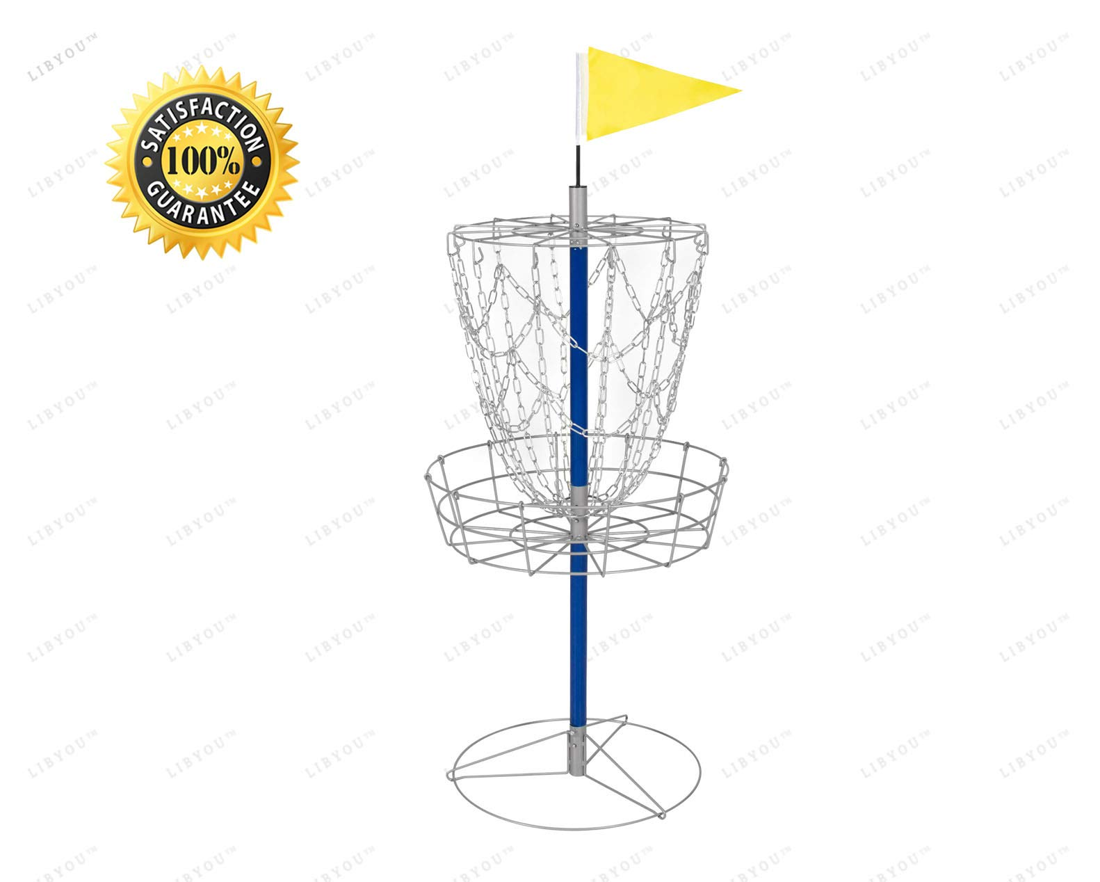 LIBYOU__Portable disc Golf Basket,disc Golf Basket,Golf Basket Chains,disc Golf Basket Full Size,disc Golf Basket with Legs
