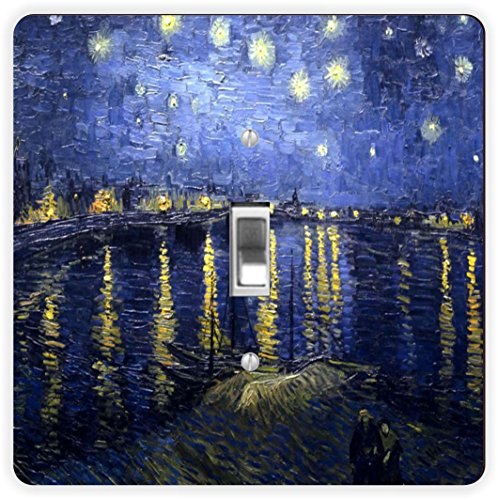 Rikki Knight Van Gogh Starry Night-Single Toggle Light Switch (Knight Night Light)