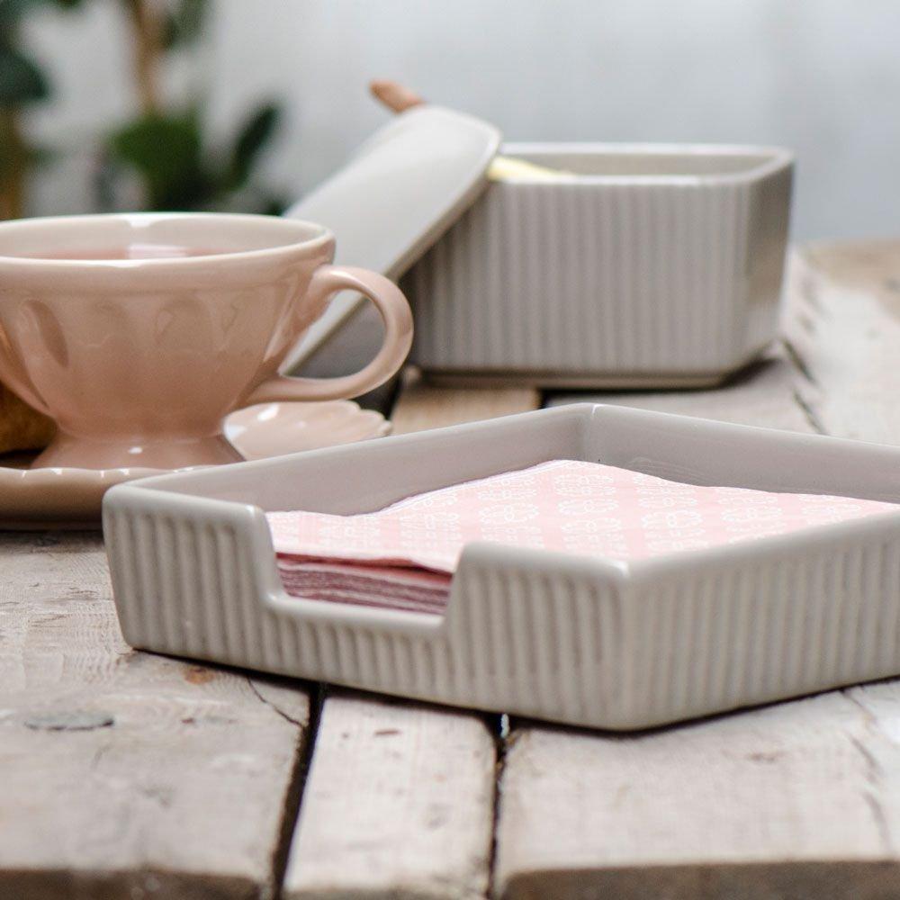 Ceramica Ib Laursen Mynte portatovaglioli taglia unica french grey-farben taglia unica