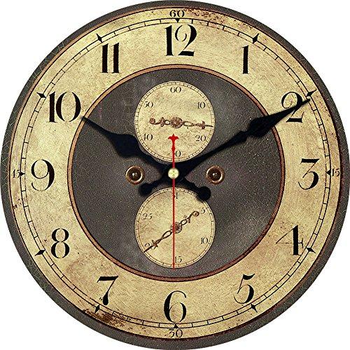 Wood Wall Clock, ShuaXin Vintage Retro Style Arabic Rome Num