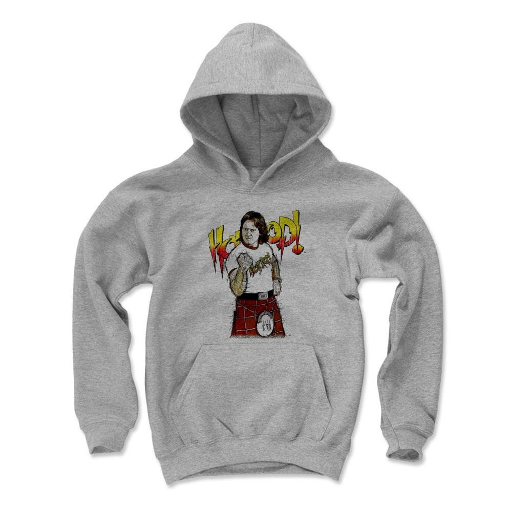 500 Level's Rowdy Roddy Piper Kids Youth Hoodie M Gray - Rowdy Roddy Piper Sketch Fist R - Officially Licensed by Pro Wrestling Tees by 500 Level