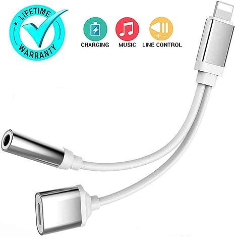 Amazon.com: Adaptador para auriculares iPhone Jack para ...