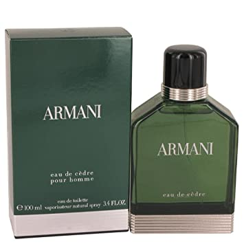 Giorgio Armani Eau De Cedre Eau De Toilette Spray, 3.4 Ounce