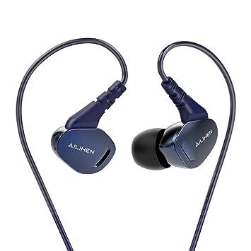f43342ca43a Ailihen X2 Auriculares Deporte para Correr, Auriculares In Ear con Micrófono  y Control Remoto para Mp3, iPhone, Móvil Android, PC, Color Azul Oscuro: ...