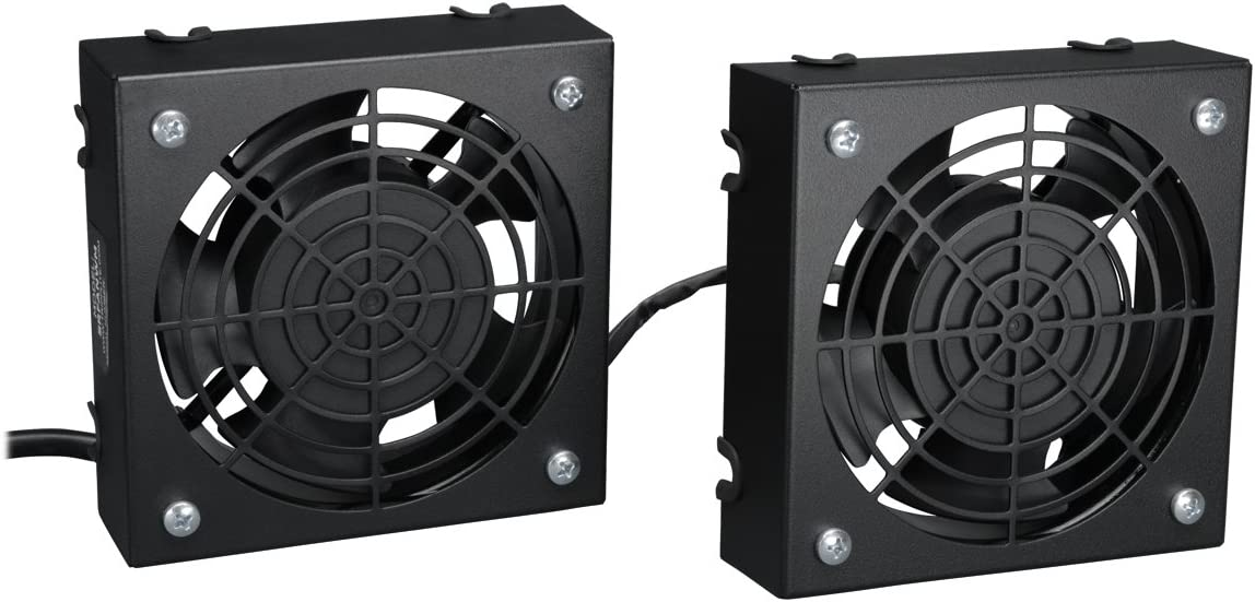 Tripp Lite Wall-Mount Roof Fan Kit, 2 High-Performance Fans, 120V, 210 CFM, 5-15P Plug (SRFANWM)