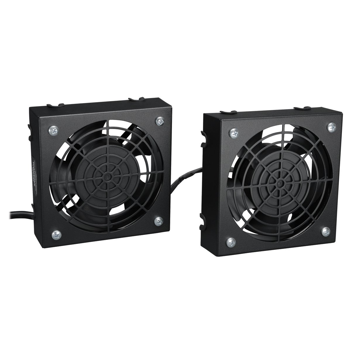 Amazon.com: Tripp Lite Wall Mount Roof Fan Kit, 2 High Performance Fans,  120V, 210 CFM, 5 15P Plug (SRFANWM): Computers U0026 Accessories