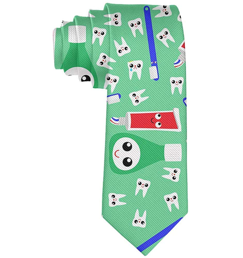Corbata de pasta de dientes con dientes lindos para hombre Corbata ...