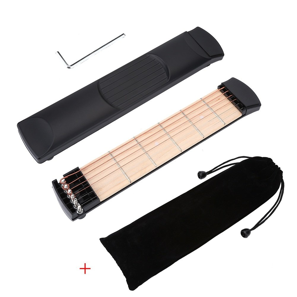 Pocket Guitar, Guitar Finger Exercise, 6 Fret Guitar Chord Practice Tool for Beginners VGEBY