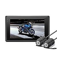 UMIWE Dashcam Moto, OXOQO enregistreur de Vision Nocturne de HD 1080P avec Les appareils-Photo de Devant Avant pour la Moto de Moto