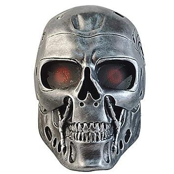 WHFDRHWSJMJ Mascara Halloween Terror de LED Cosplay Decoraciones navideñas Decoraciones de Halloween Máscaras de Halloween Fiesta
