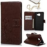A5 Case,Galaxy A5 (2016 Version) Case, Stand Wallet Purse Credit Card ID Holders Magnetic Flip Folio TPU Soft Bumper PU Leather Clear Ultra Skin Cover for Samsung Galaxy A5 by MOLLYCOOCLE® ,Brown