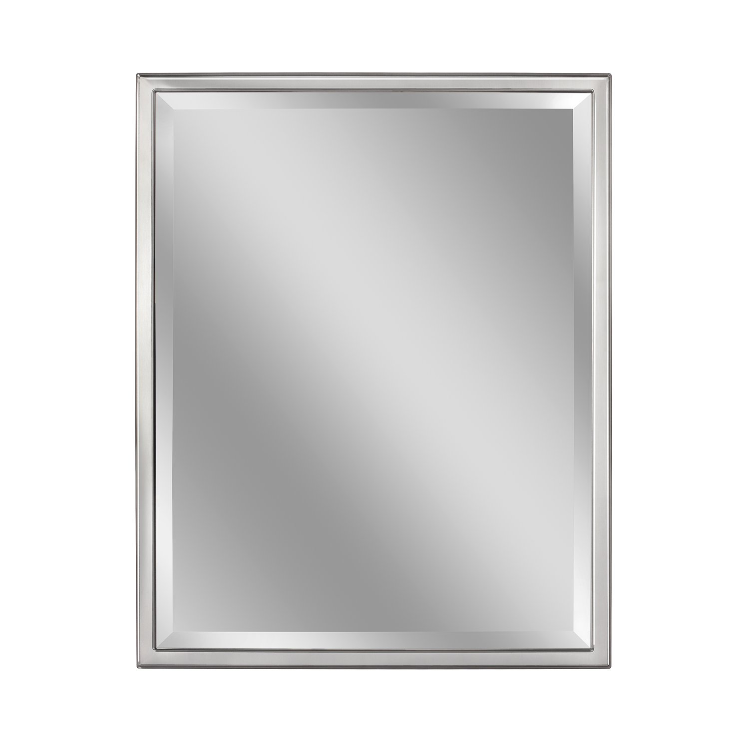 Head West 24 x 30 Classic Chrome 1 in. Wide Metal Frame Wall Mirror