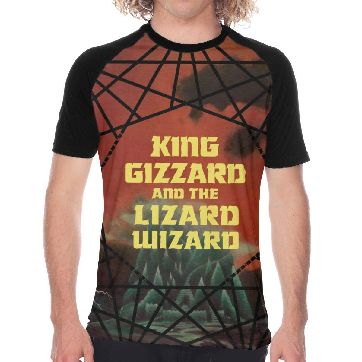 FwadGacx King Gizzard and Lizard Mans Youth Stylish Short Sleeves Full Size Printed Baseball Tee Gift